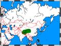Vulpes ferrilata range map.png