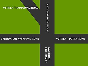 Vyttila - Vyttila is one of the most prominent junctions of Kerala state