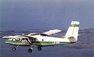 Widerøe - A de Havilland Canada DHC-6 Twin Otter in 1970