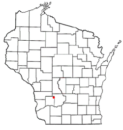 Location of Cazenovia, Wisconsin
