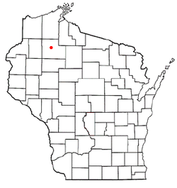 Location of Hunter, Wisconsin