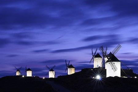Windmills of Consuegra, Castilla La Mancha, Spain.
