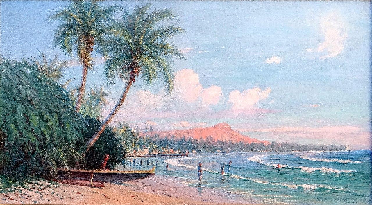 FileWaikiki Beach Diamond Head Oahu by D Howard