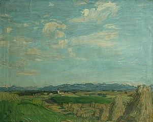 Landschaft bei Wasserburg am Inn