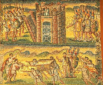 Joshua (Handel) - Joshua and his troops destroying the walls of Jericho,English 5th century