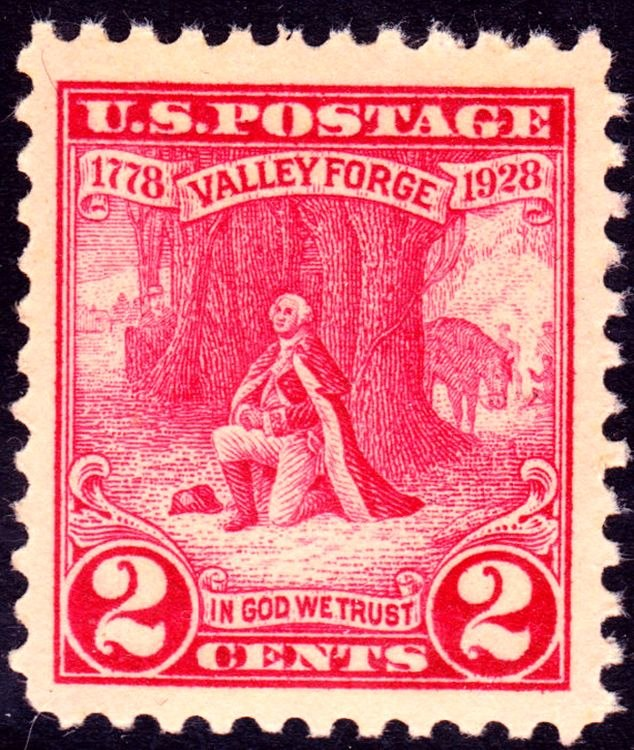 Washington at Prayer 1928 Issue-2c