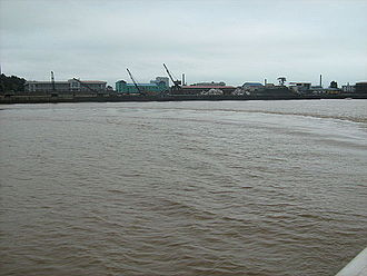 Sinuiju - Waterfront on the Yalu River