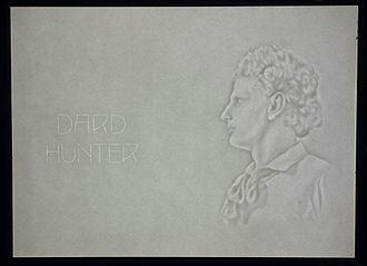 Dard Hunter - Dard Hunter, self-portrait in watermark