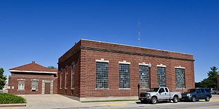 Waverly Municipal Hydroelectric Powerhouse building in Iowa, United States