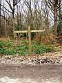 Waymark in Wyre Forest Car Park - geograph.org.uk - 673666.jpg