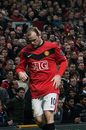 Wayne Rooney of Manchester United vs Everton. ...