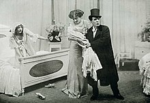 Weedon Grossmith, Iris Hoey and Lilias Waldegrave in Baby Mine 1911.jpg
