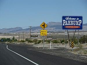 Pahrump, Nevada - Pahrump, Nevada welcome sign