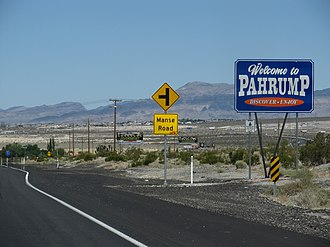 Pahrump, Nevada - Pahrump, Nevada welcome sign
