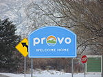 Welcome to Provo, Provo Municipal Airport, Jan 16.JPG