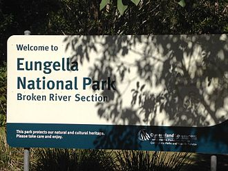 Eungella National Park - Welcome sign at the entrance to Eungella National Park