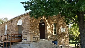 National Register of Historic Places listings in Okfuskee County, Oklahoma - Image: Weleetka Town Hall and Jail