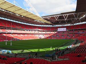 2021 Rugby League World Cup - Image: Wembley Stadium 2015 RWC