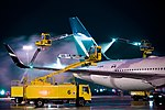 WestJet Boeing 767-300 C-GOGN being de-iced at YYZ.jpg