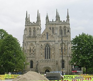 Selby - Selby Abbey, west front