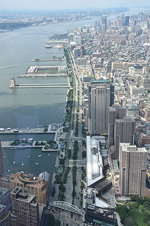 West Side Highway - View from the One World Observatory