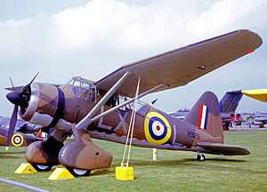 No. 225 Squadron RAF - Preserved Westland Lysander III wearing the markings of No. 225 Squadron in 1968. This aircraft had served the squadron in 1940.