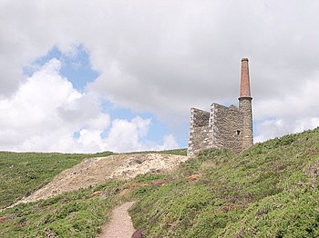 English: Wheal Prosper near Rinsey. Prosper wa...