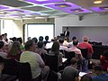 Which Law Applies to Wikipedia session at Wikimania 2014 01.jpg