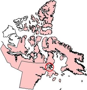 White Island (Nunavut) - Location of White Island on a Nunavut map