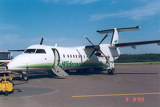 Sandefjord Airport, Torp - Widerøe de Havilland Canada Dash 8-300 at Torp in 1999