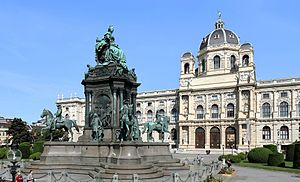 Maria-Theresien-Platz - Empress Maria Theresia monument and Natural History Museum at Maria-Theresien-Platz, Vienna