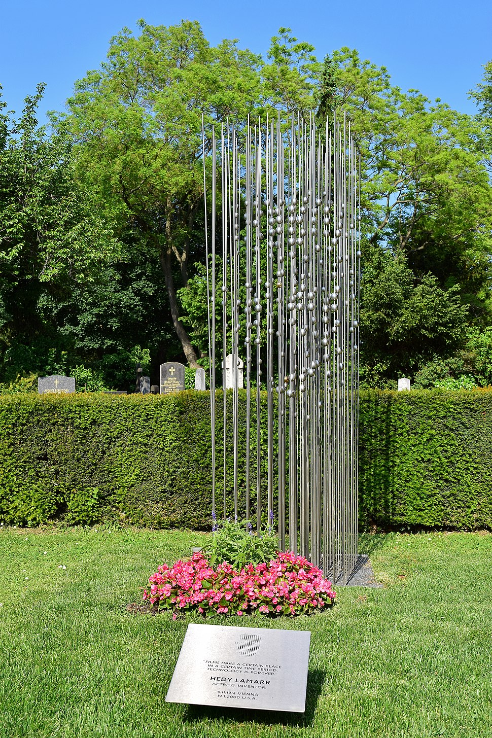 Wiener Zentralfriedhof - Gruppe 33 G - Grab von Hedy Lamarr