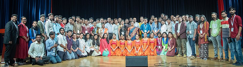Wikimedia Education SAARC conference cultural program group.jpg