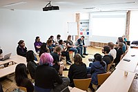 Wikimedia Hackathon Vienna 2017-05-20 Ladies that FOSS and Women in Tech 02.jpg