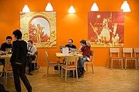 Wikimedia Hackathon Vienna 2017-05-20 Mentoring Area 03.jpg