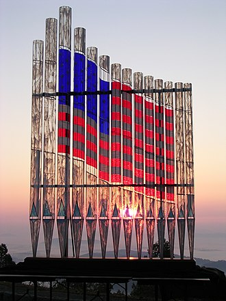 Organ pipe - The Wilhelmy American Flag Glass Pipe Organ