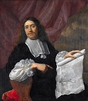 Willem van de Velde the Younger - Portrait of Van de Velde in 1672 by Lodewijk van der Helst