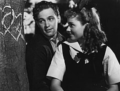 William Holden i Martha Scott w scenie z filmu