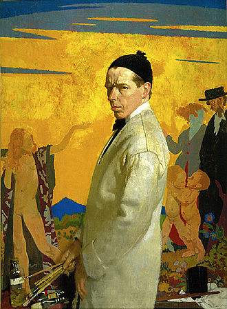 William Orpen - William Orpen, Self-Portrait painting Sowing New Seed (1913) (Saint Louis Art Museum)
