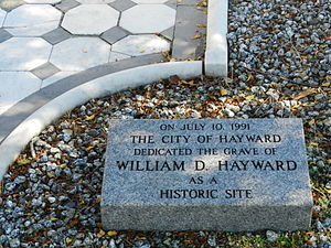 William Dutton Hayward - 1991 dedication at Hayward gravesite