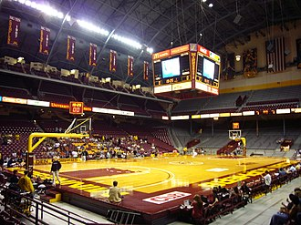 Minnesota Golden Gophers men's basketball - The court of Williams Arena