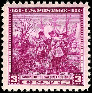 Wilmington, Delaware - Founding of Wilmington stamp. (See New Sweden.)