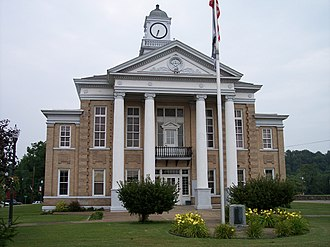 Elizabeth, West Virginia - The Wirt County Courthouse in Elizabeth in 2006