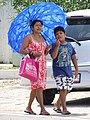Woman and Boy in Street - Tulum - Quintana Roo - Mexico.jpg