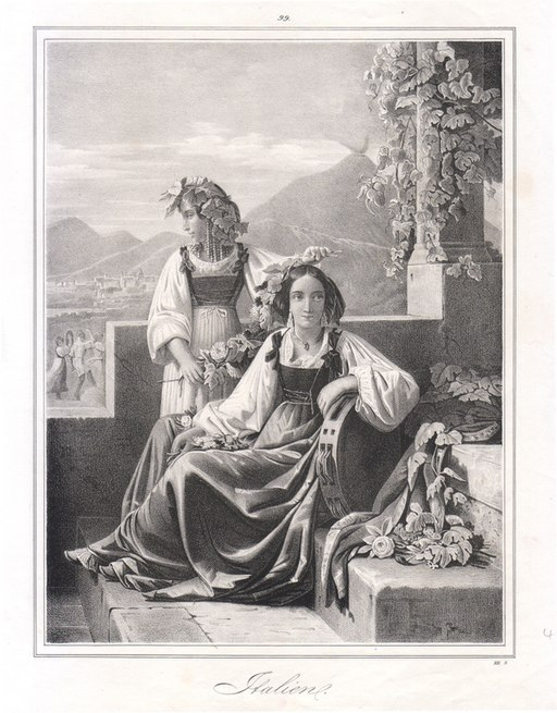 Women of Naples - Italien - Litography (XIX Century)