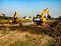 Work of renovation is going on from the river Jamuna (West Bengal).jpg