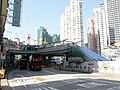 Wuhu Street escalator of Ho Man Tin Station exits B1 under construction in November 2014.jpg