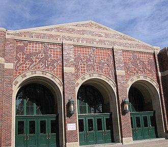 Wyandotte High School - Gym entrance