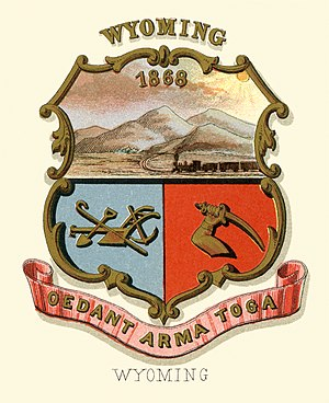 Wyoming Territory - Image: Wyoming territory coat of arms (illustrated, 1876)