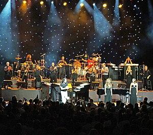 Yanni onstage w... B 52 Band Members